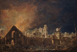 The Foire Saint-Germain after the fire of the night of 16 to 17 March 1762, 1762. Creator: Demachy, Pierre-Antoine (1723-1807).