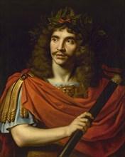 """Molière in the role of Julius Caesar in """"La Mort de Pompée"""" by Pierre Corneille, 1656. Creator: Mignard, Nicolas (1606-1668)."""