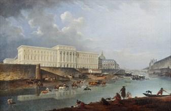 L'Hôtel de la Monnaie, le quai de Conti et la Seine, vus de la pointe de la Cité, 1777. Creator: Demachy, Pierre-Antoine (1723-1807).