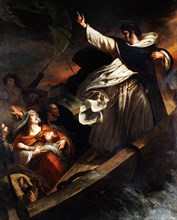 Saint Thomas Aquinas preaches trust in God during the storm, 1823. Creator: Scheffer, Ary (1795-1858).