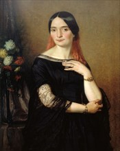 Portrait of the actress Mademoiselle Mars (Anne Francoise Hyppolyte Boutet) (1779-1847). Creator: Scheffer, Ary (1795-1858).