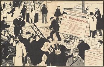 "Book jacket for ""Les Rassemblements"", 1896. Creator: Félix Vallotton."