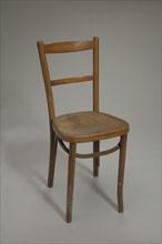 Wood chair used at Club Harlem, Atlantic City, 1955-1975. Creator: Unknown.