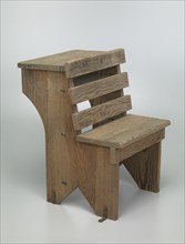 Wooden school desk from Bethel Evangelical Lutheran Church and School, 1925-1963. Creator: Unknown.