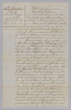 Deed of sale for an enslaved man named John, March 30, 1861. Creator: John French Coffey.