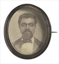 Pinback button featuring a campaign portrait of Senator William B. Nash, ca. 1868. Creator: Unknown.