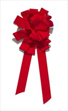 Red bow from the car giveaway episode of The Oprah Winfrey Show, 2004. Creator: Unknown.