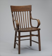 Bentwood armchair from a church in Tulsa, Oklahoma, late 19th-early 20th century. Creator: Unknown.