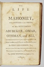 The Life of Mahomet, 1805. Creator: Unknown.