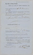 Bill of Sale for Chloe from Z. B. Oakes to Elias N. Ball, October 25, 1862. Creator: Walker, Evans & Co.
