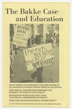 'The Bakke Case and Education', ca. 1978. Creator: Unknown.