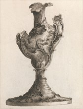Design for a large Asymmetrical Vase, Plate 4 from: 'Neu inventierte Vasi a..., Printed ca. 1750-56. Creator: Jacob Gottlieb Thelot.