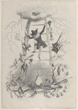 Illustration in Jérôme Paturot, by Louis Reybaud, Paris, 1846, ca. 1846. Creator: Jean Ignace Isidore Gerard.