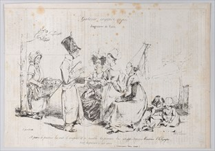 Mythological Gallery: Judgement of Paris, ca. 1829-31. Creator: Pierre Langlumé.
