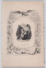 Octavie, from The Songs of Béranger, 1829. Creator: Melchior Péronard.