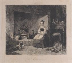 The Cottage (La Chaumière), 1800-50., 1800-50. Creator: François Jules Collignon.