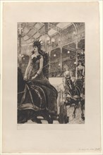 The Ladies of the Chariots at the Hippodrome (Ces dames des chars à l'Hippodrome), 1885. Creator: James Tissot.