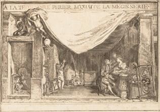 The Shop of M.Périer, Ironwork Merchant, 1767. Creator: Gabriel de Saint-Aubin.