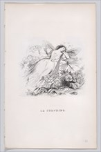 The Sylph from The Complete Works of Béranger, 1836. Creator: Jean Ignace Isidore Gerard.