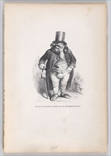 To pay the landlord, a very harsh man, whose name was M. Vautour from Scenes from t..., ca. 1837-47. Creator: Andrew Best Leloir.