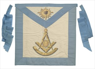 Masonic apron from the Prince Hall Grand Lodge of Massachusetts, late 18th century. Creator: Unknown.