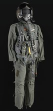 Pilot flight suit and gear owned by Charles F. Bolden, ca. 2000. Creator: Unknown.