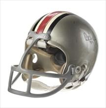 Ohio State Buckeyes football helmet worn by Archie Griffin, 1972-1975. Creator: Riddell.