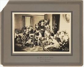 Photographic print of funeral floral arrangements for Samuel M. Jackson Jr., Sep 1928. Creator: The Blanch Randle Studio.