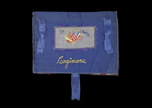 """Handmade """"For Liberty; Engineers"""" sweetheart gift from World War I, 1917-1918. Creator: Unknown."""
