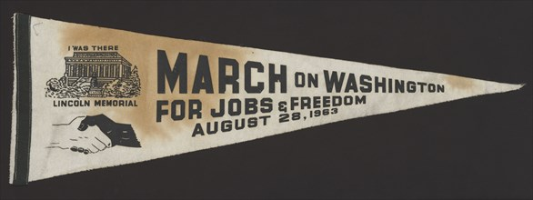 Pennant from the March on Washington carried by Edith Lee-Payne, 1963. Creator: Unknown.