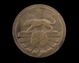 Bronze Medal honoring the 371st Infantry, 1918. Creator: Henri Teterger.