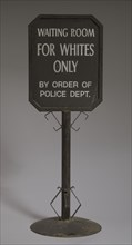 Sign from segregated railroad station, ca. 1930s. Creator: Unknown.