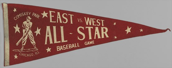 Pennant from a Negro League East vs. West All-Star Game, ca. 1933. Creator: Unknown.