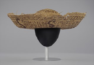 Straw sombrero hat associated with Civil Rights campaign, Camden, Alabama, 1971-1972. Creator: Unknown.