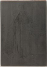 La Mere Gerard. One of the Twelve Etchings from Nature, 1857-1858. Creator: James Abbott McNeill Whistler.