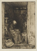 La Vieille aux Loques, 1858. Creator: James Abbott McNeill Whistler.
