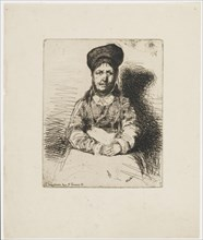 La Retameuse. One of the Twelve Etchings from Nature (The French Set), 1858. Creator: James Abbott McNeill Whistler.