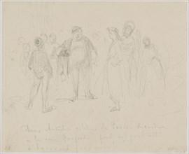 Deux Artistes Célèbres de Paris, 1858. Creator: James Abbott McNeill Whistler.