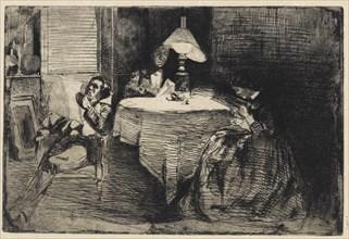The Music Room, 1858. Creator: James Abbott McNeill Whistler.