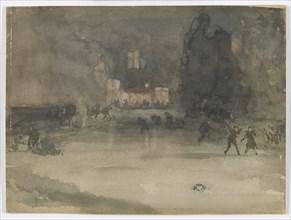 Nocturne: Amsterdam in Winter, 1882. Creator: James Abbott McNeill Whistler.