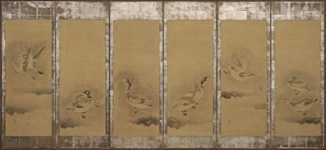 Wild geese, Momoyama or Edo period, 1568-1640. Creator: Sôtatsu.