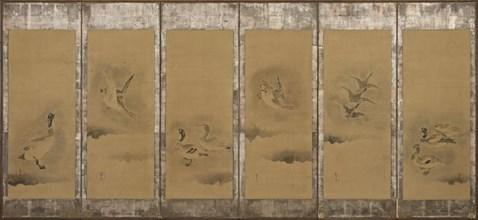 Wild geese, Momoyama or Edo period, 1568-1615. Creator: Sôtatsu.