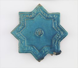 Tile, Il-Khanid dynasty, 12th-13th century. Creator: Unknown.