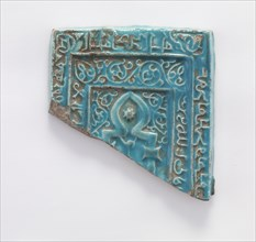 Tile fragment, Il-Khanid dynasty, 13th century. Creator: Unknown.