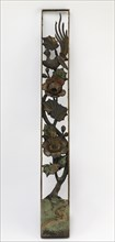 Carved openwork panel with hibiscus and long-tailed bird, Edo period, 18th-19th century. Creator: Unknown.