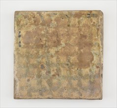 Tile, square, Abbasid period, late 12th-early 13th century. Creator: Unknown.