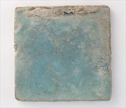 Square tile with slag attachments, 11th-12th century. Creator: Unknown.