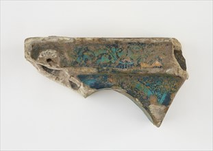 Corner tile, broken in two pieces, late 12th-early 13th century. Creator: Unknown.