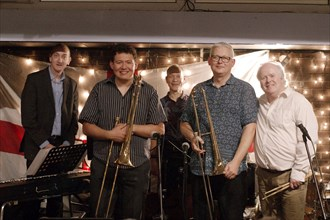 Mark Nightingale Quintet, Splash Point Jazz, The Fishermans Eastbourne, 30th June 2021. Creator: Brian O'Connor.