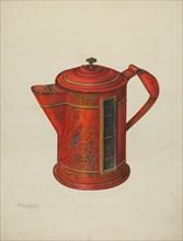 Toleware Coffee Pot, 1935/1942. Creator: Nicholas Acampora.